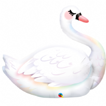 Graceful Swan Large Foil Balloon 1pc